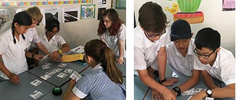Year 8 English students learning Shakespeare