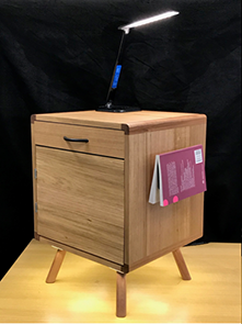 A Design and Technology student's major design project - bedside cabinet made of timber