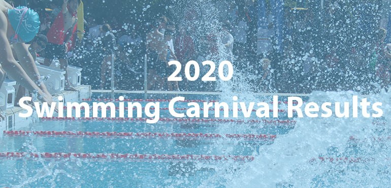Swimming Carnival 2020, faded background of splash in pool